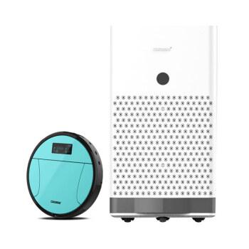 ウィルス除去空気殺菌消毒機締切自動移動紫外線オゾン浄化器掃除ロボット580マイナスイオン清浄器+超薄消毒吸地機580+掃除機A 3