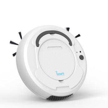 三合一インテリジェント掃除ロボット家庭用全自動無線ミニ掃除機ホワイト【磨き一体】